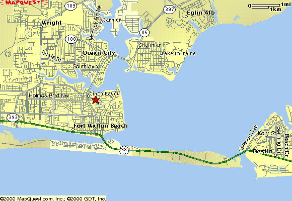 fort walton beach on florida map