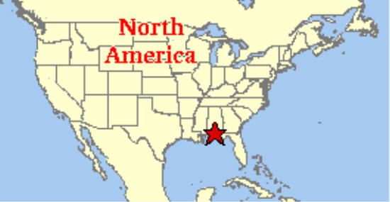 Map Of The Panhandle Of Florida.Fort Walton Beach Yoga Meditation
